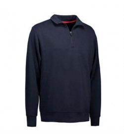 ID Sweatshirt med krave 0603 grå melange-20