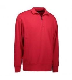 ID Sweatshirt med krave 0603 rød-20