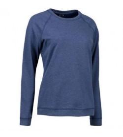 ID core sweatshirt dame 0616 blå melange-20