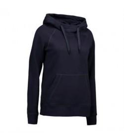 ID Sweatshirt med hætte dame 0637 sort-20