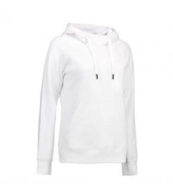 ID Sweatshirt med hætte dame 0637 hvid-20