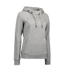 ID Sweatshirt med hætte dame 0637 grå melange-20