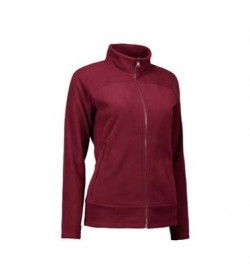 ID fleece jakke dame 0807 bordeaux-20