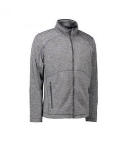 ID fleece jakke 0847 grå melange-20