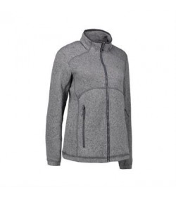 ID fleece jakke dame 0848 grå melange-20
