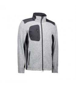ID fleece jakke 0850 grå melange-20