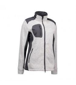 ID fleece jakke dame 0851 grå melange-20