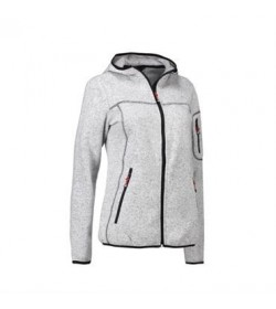 ID fleece jakke dame 0853 grå melange-20