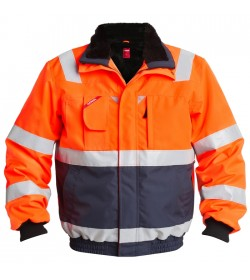 FE-Engel EN 20471 Pilotjakke Orange/Marine-20