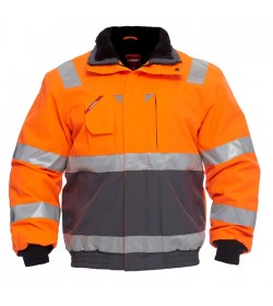 FE-Engel EN 20471 Pilotjakke Orange/Grå-20