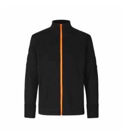 Mads Nørgaard cardigan Klemens zip 120361 black/orange-20