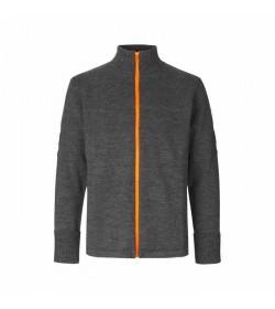 Mads Nørgaard cardigan Klemens zip 120361 charcoal melange/orange-20