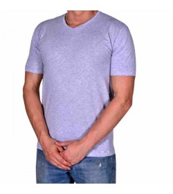 by Mikkelsen t-shirt v-hals grå-20