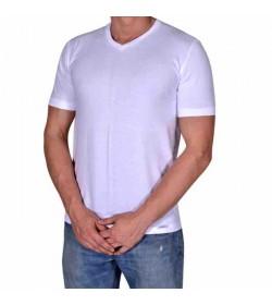 by Mikkelsen t-shirt v-hals hvid-20