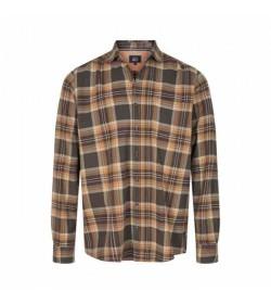 Signal skjorte Flemming Brushed Green Ink-20