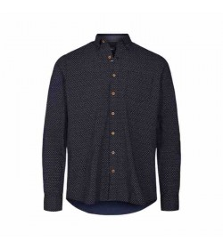 Signal skjorte Olsen Print Washed blue-20