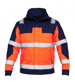 FE-Engel Safety+ Vinterjakke EN 20471 Orange/Marine-20