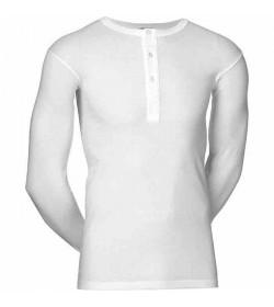 JBS undertrøje med lange ærmer and knapper hvid-20