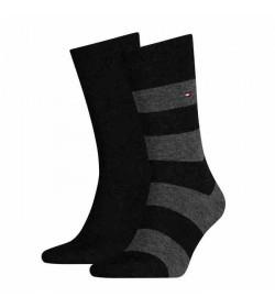 Tommy Hilfiger 2-pak strømper stribet grå/sort-20