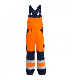 FE-Engel EN 20471 Light Overall M/Ela. Orange/Marine-20