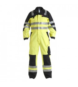 FE-Engel Safety+ Kedeldragt EN 20471 Gul/Sort-20
