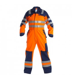 FE-Engel Safety+ Kedeldragt EN 20471 Orange/Marine-20