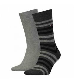 Tommy Hilfiger 2-pak strømper middel grey / light grey-20