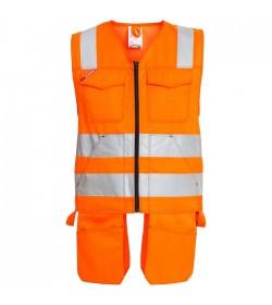 FE-Engel EN 20471 Håndværkervest Orange-20