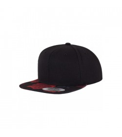 Flexfit snapback black red rose-20