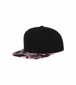 Flexfit snapback black red floral-20