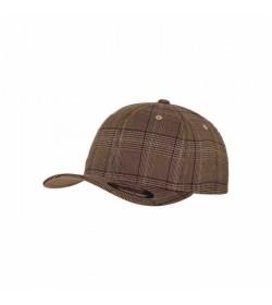 Flexfit cap Brown check-20