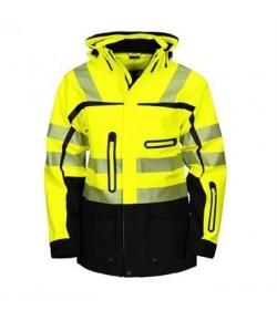 ProJob 6417 sikkerhedsjakke EN ISO 20471-Klasse 2/3 gul/sort-20