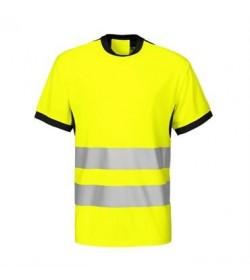 ProJob 6009 sikkerhedst-shirt EN ISO 20471-Klasse 2 gul/sort-20