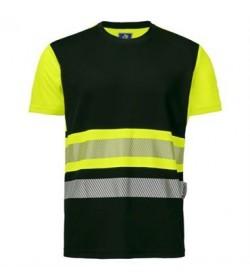 ProJob 6020 sikkerhedst-shirt EN ISO 20471-Klasse 1 gul/sort-20