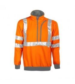 ProJob 6102 sikkerhedstrøje EN ISO 20471-Klasse 3 orange/grå-20