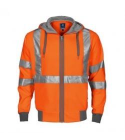 ProJob 6104 sikkerhedstrøje med hætte EN ISO 20471-Klasse 3/2 orange/grå-20