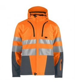 ProJob 6420 sikkerhedsjakke EN ISO 20471-Klasse 3/2 orange/grå-20
