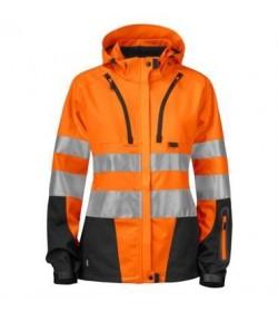 ProJob 6423 kvindesikkerhedsjakke EN ISO 20471-Klasse 2/3 orange/sort-20