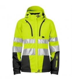 ProJob 6424 kvindesikkerhedsjakke EN ISO 20471-Klasse 2/3 gul/sort-20