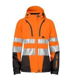 ProJob 6424 kvindesikkerhedsjakke EN ISO 20471-Klasse 2/3 orange/sort-20