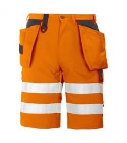 ProJob 6503 sikkerhedsshorts EN ISO 20471-Klasse 1/2 orange/sort-20