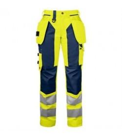 ProJob 6519 sikkerhedsbuks kvinde EN ISO 20471-Klasse 2 gul/navy-c50-20