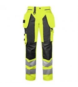 ProJob 6519 sikkerhedsbuks kvinde EN ISO 20471-Klasse 2 gul/sort-c50-20