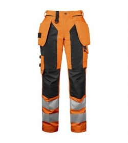 ProJob 6519 sikkerhedsbuks kvinde EN ISO 20471-Klasse 2 orange/sort-20