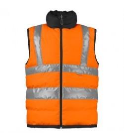 ProJob 6708 foret sikkerhedsvest EN ISO 20471-Klasse 2 orange/sort-20