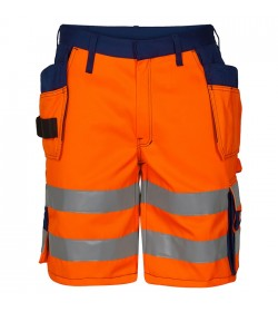 FE-Engel EN 20471 Shorts M/Hængelomme Orange/Marine-20