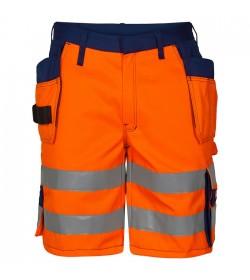 FE-Engel EN 20471 Shorts M/Hængelomme Orange/Marine-20