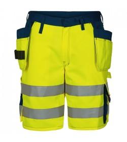 FE-Engel EN 20471 Shorts M/Hængelomme Gul/Marine-20