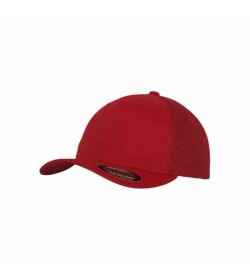 Flexfit cap Baseball tactel mesh Red-20