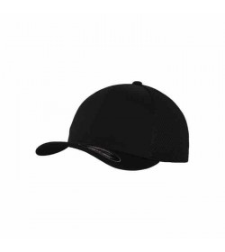 Flexfit cap Baseball tactel mesh Black-20